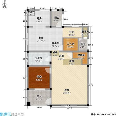 湖光山舍1室1厅1卫0厨206.00㎡户型图
