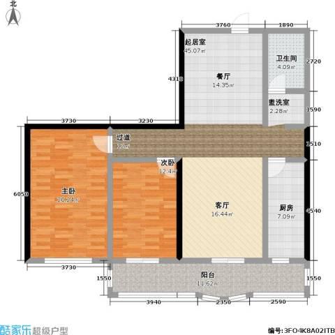 怡清园(尾房)2室0厅1卫1厨115.00㎡户型图