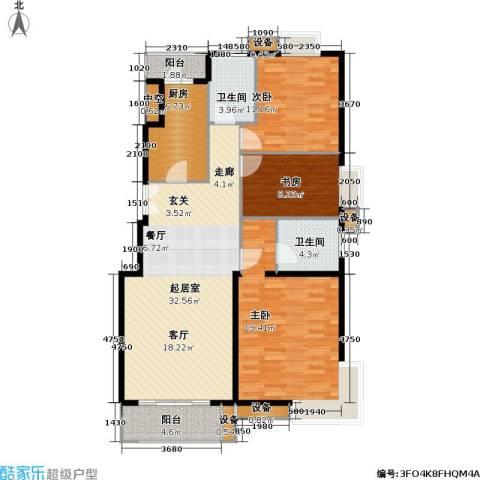 上海沙龙3室0厅2卫1厨118.00㎡户型图
