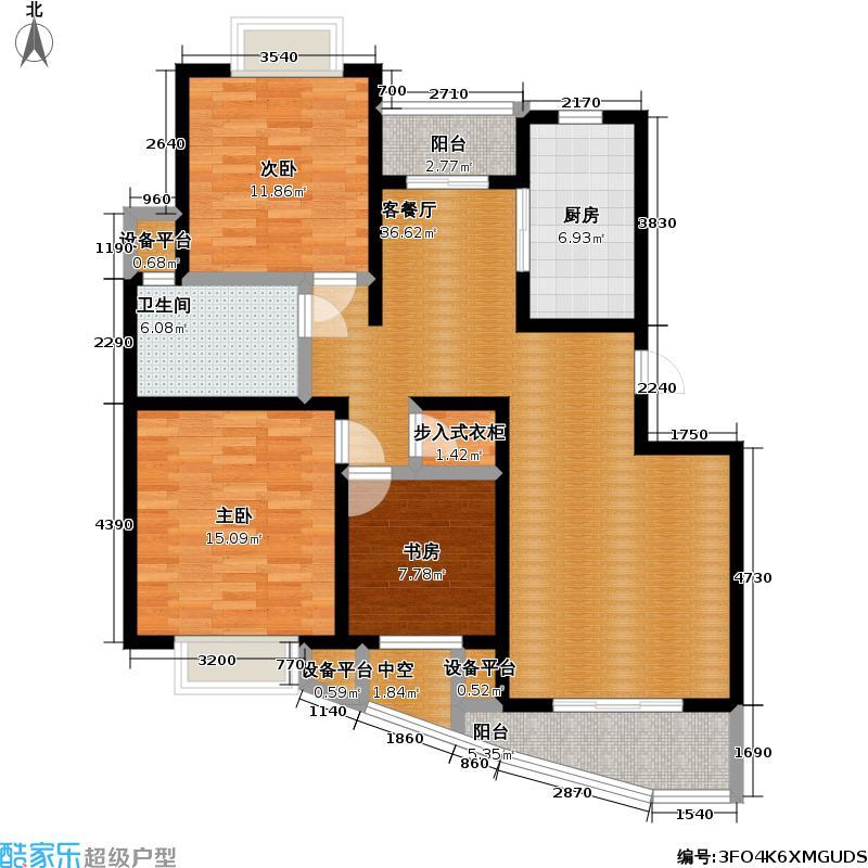 大华愉景华庭115.92㎡房型: 三房; 面积段: 115.92 -164 平方米; 户型