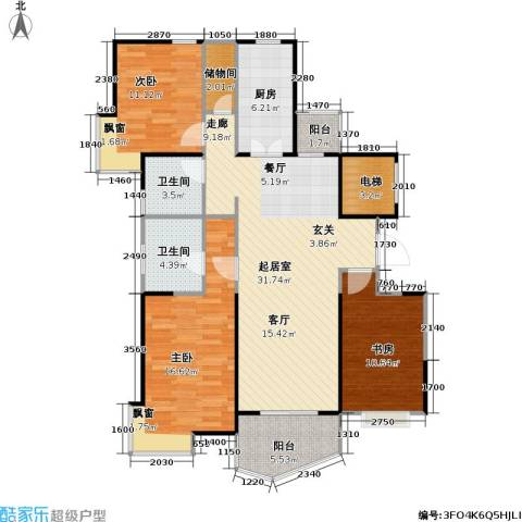 金月湾小区3室0厅2卫1厨105.00㎡户型图