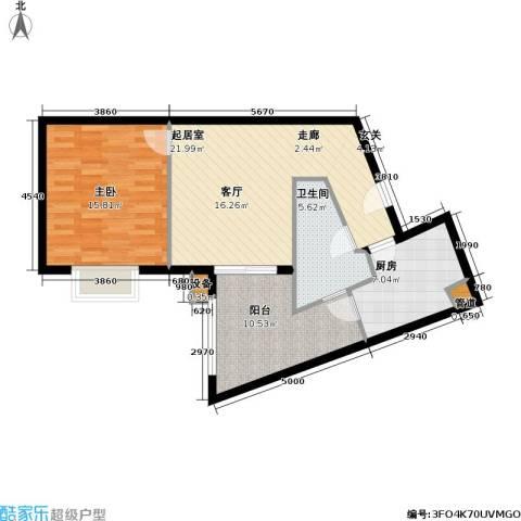 名门世家四期1室0厅1卫1厨64.00㎡户型图