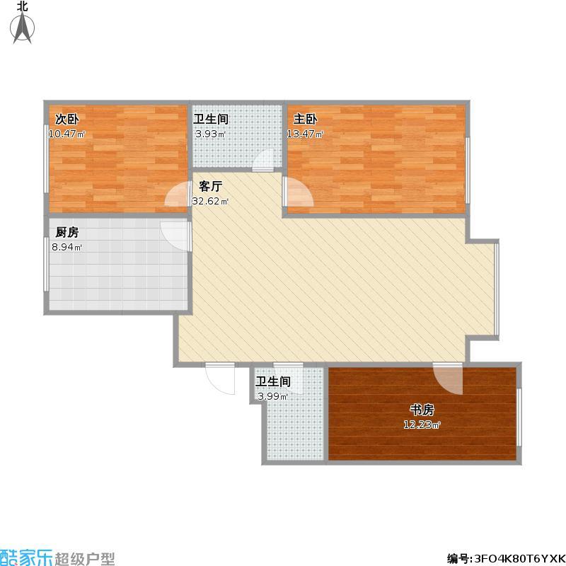 新城枫景131平三室两厅两卫
