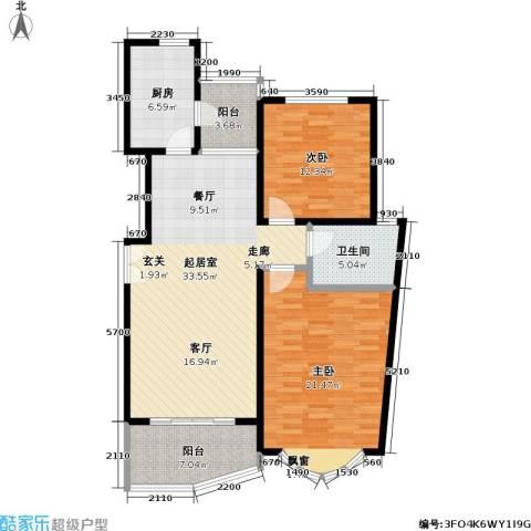 虹韵家园2室0厅1卫1厨97.00㎡户型图