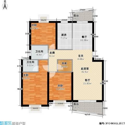 芳卉园(三期)3室0厅2卫1厨116.00㎡户型图