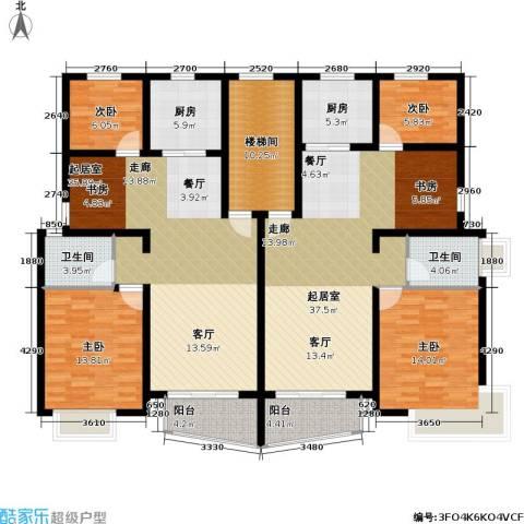 万兆家园五期4室0厅2卫2厨215.00㎡户型图