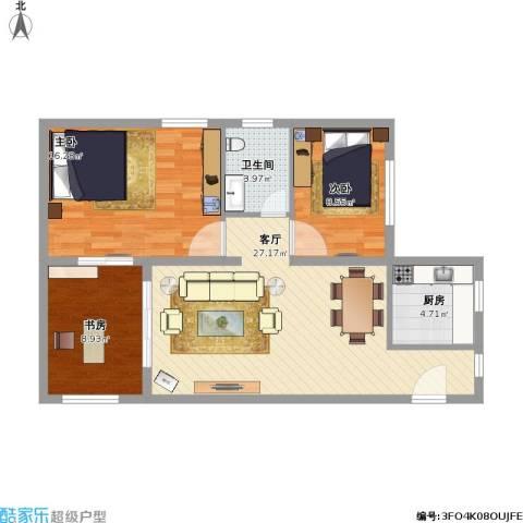 伊比亚河畔3室1厅1卫1厨78.59㎡户型图