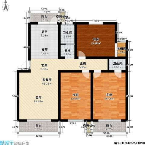 欣乐新村54幢3室1厅2卫0厨119.00㎡户型图