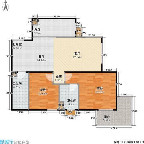 方南家园(二期)2室0厅2卫1厨106.00㎡户型图