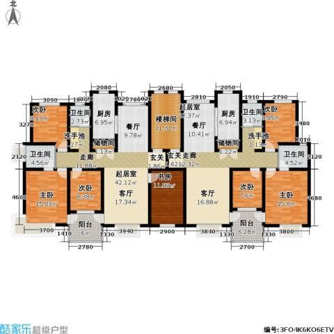 万兆家园五期7室0厅4卫2厨311.00㎡户型图