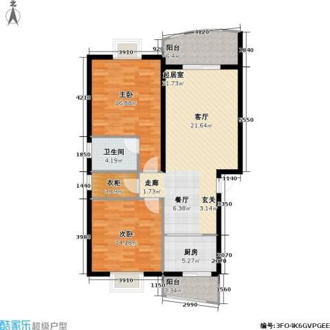 芳卉园(三期)2室0厅1卫1厨99.00㎡户型图