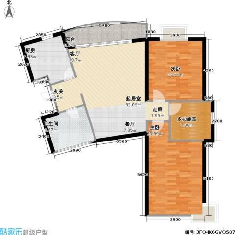 芳卉园(三期)2室0厅1卫1厨116.00㎡户型图