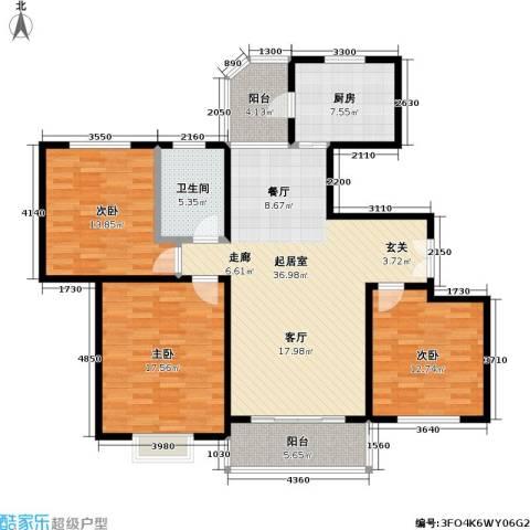 虹韵家园3室0厅1卫1厨116.00㎡户型图