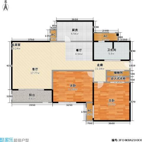 金晖嘉园2室0厅1卫1厨87.00㎡户型图