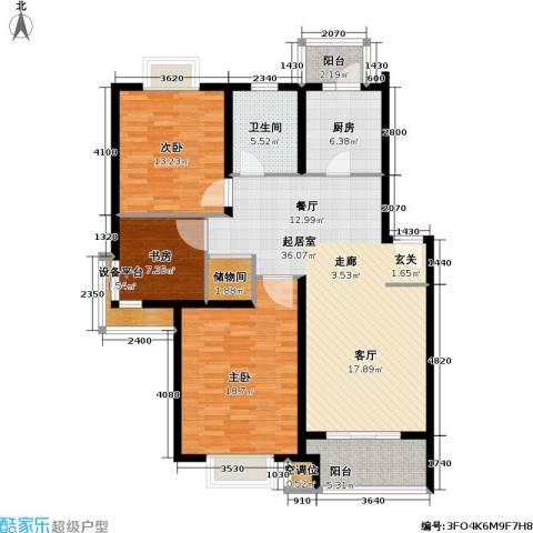 城投世纪名城三期3室0厅1卫1厨113.00㎡户型图