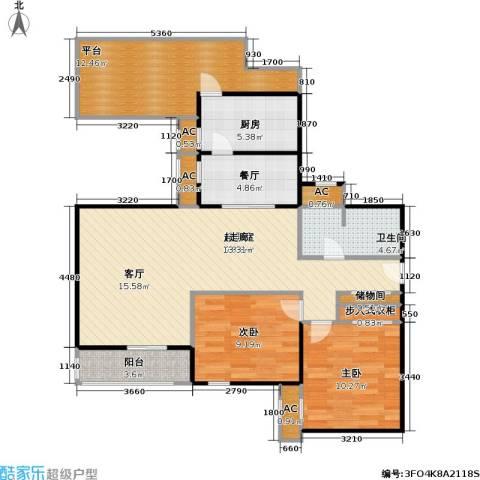 金晖嘉园2室1厅1卫1厨92.00㎡户型图