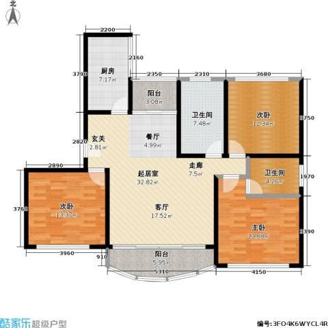 和泰玫瑰苑3室0厅2卫1厨141.00㎡户型图