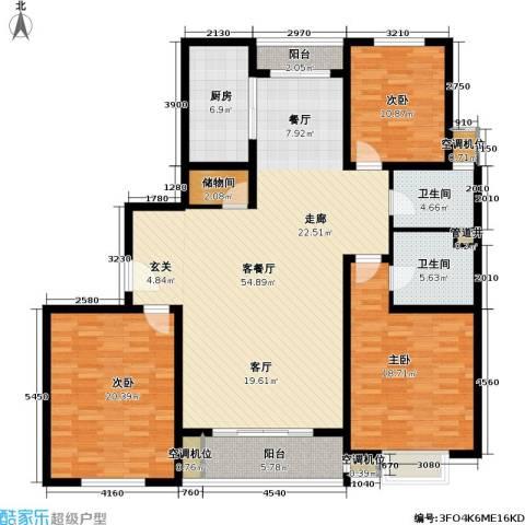 世纪飞凡二期3室1厅2卫1厨150.00㎡户型图