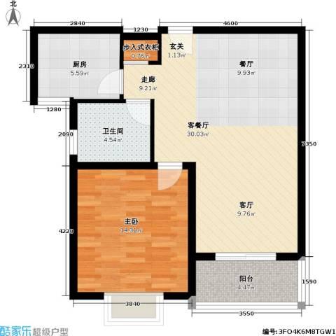 成亿宝盛家苑北块1室1厅1卫1厨69.00㎡户型图