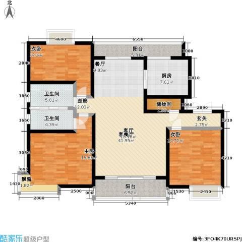 联洋丁香苑3室1厅2卫1厨138.55㎡户型图