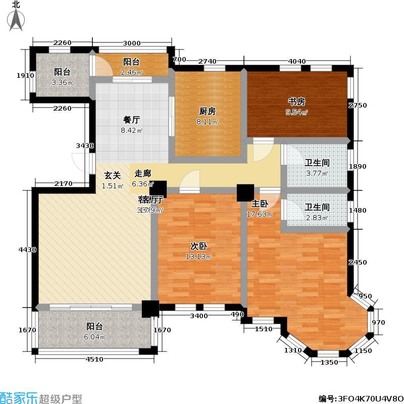 当代清水园二期145.00㎡房型: 三房; 面积段: 145 -160 平方米; 户型