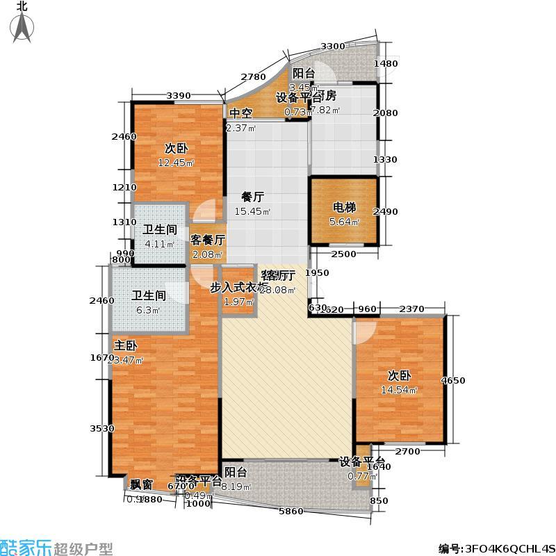 古北国际广场149.00㎡房型: 三房; 面积段: 149 -157 平方米; 户型