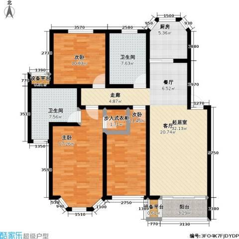 丰润港岛花园3室0厅2卫1厨115.00㎡户型图