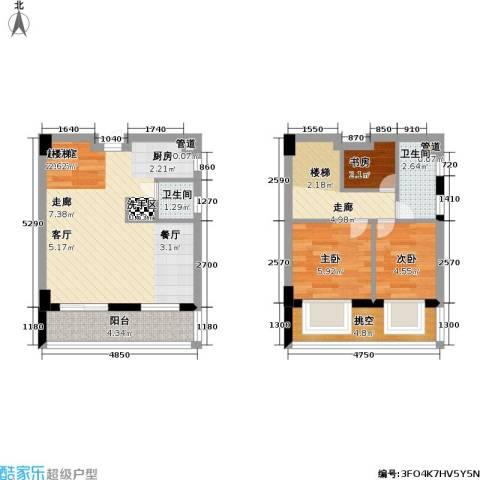 五洲国际电子城3室0厅2卫0厨62.00㎡户型图