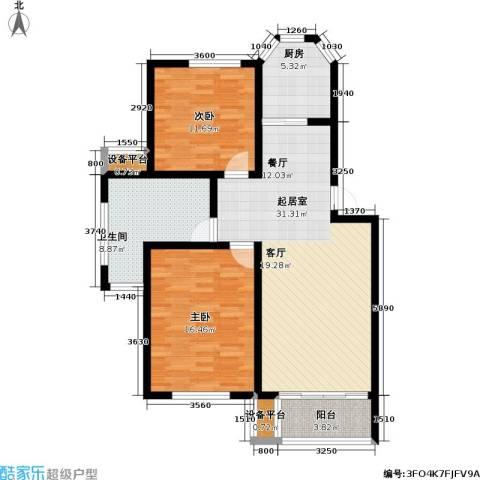 丰润港岛花园2室0厅1卫1厨114.00㎡户型图