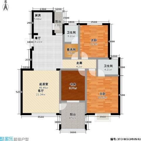 花前树下(二期)3室0厅2卫0厨106.00㎡户型图