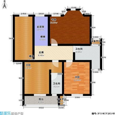 丰润港岛花园3室0厅2卫0厨102.00㎡户型图