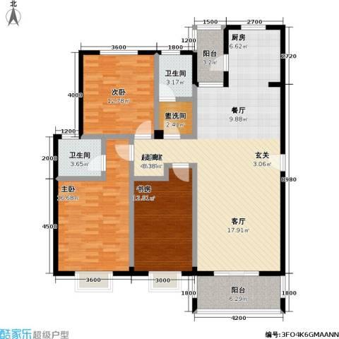 花前树下(二期)3室0厅2卫0厨106.63㎡户型图
