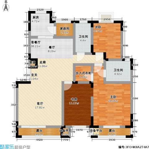 大雄・郁金香舍2室1厅2卫1厨147.00㎡户型图
