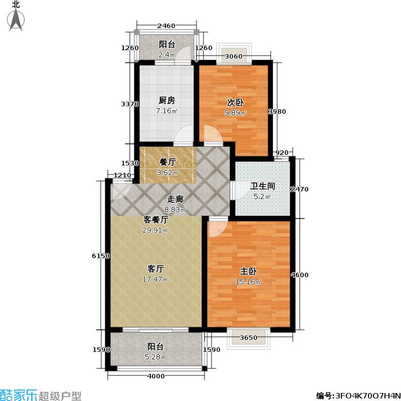 黄山新苑99.00㎡房型: 三房; 面积段: 99 -123 平方米; 户型