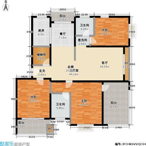 城投世纪名城二期3室0厅2卫1厨154.00㎡户型图
