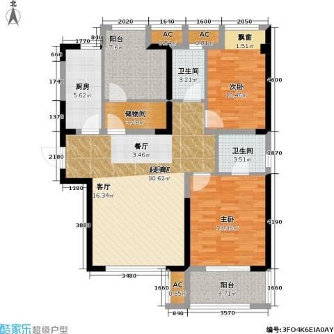 锦绣天地2室0厅2卫1厨98.00㎡户型图