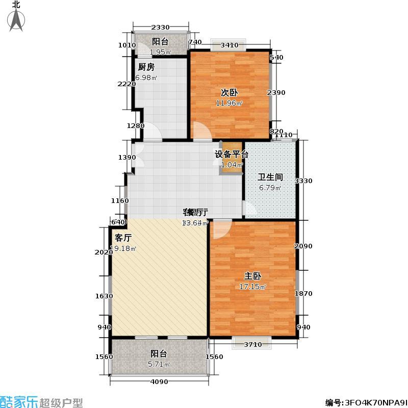 通昌苑97.37㎡房型: 二房; 面积段: 97.37 -104.9 平方米; 户型
