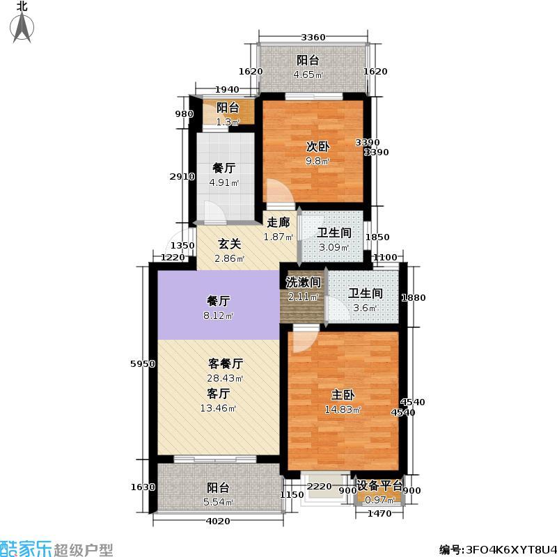 剑桥风范第四批推案松江房地(2009)预字0146号--442套户型2室2厅2卫