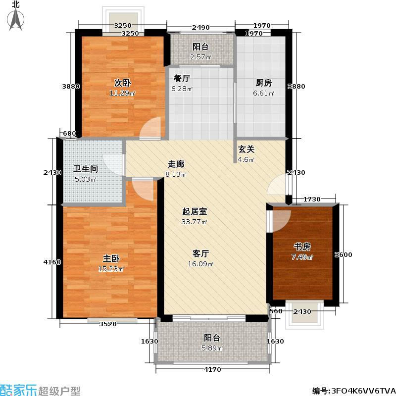 多摩园景三期98.78㎡房型: 三房; 面积段: 98.78 -102 平方米;户型