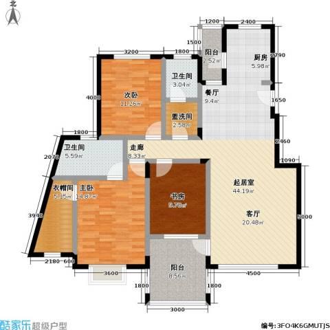花前树下(二期)3室0厅2卫0厨107.54㎡户型图