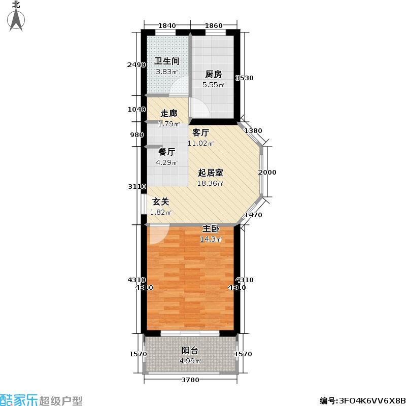 多摩园景三期53.85㎡房型: 一房; 面积段: 53.85 -53.85 平方米;户型