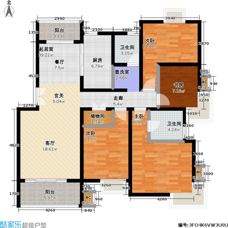 远景时代苑112.00㎡房型: 三房; 面积段: 112 -137.11 平方米;户型
