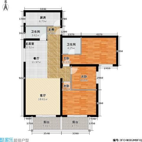泰和园3室0厅2卫1厨119.00㎡户型图