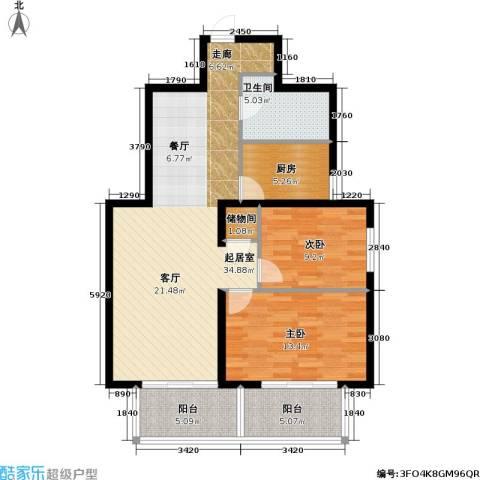 泰和园2室0厅1卫1厨91.00㎡户型图
