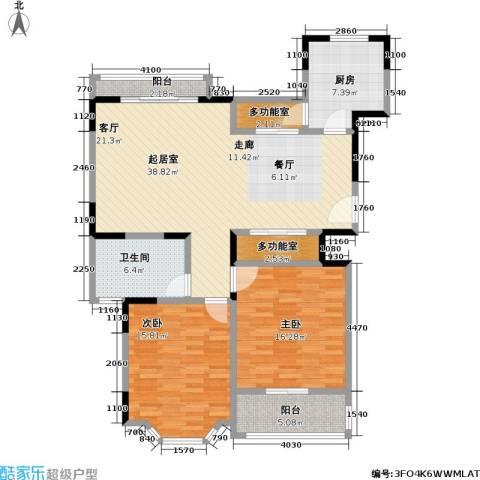 郁庭峰南园2室0厅1卫1厨96.58㎡户型图