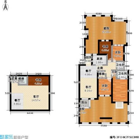 东方瑞景花园4室0厅2卫1厨183.00㎡户型图