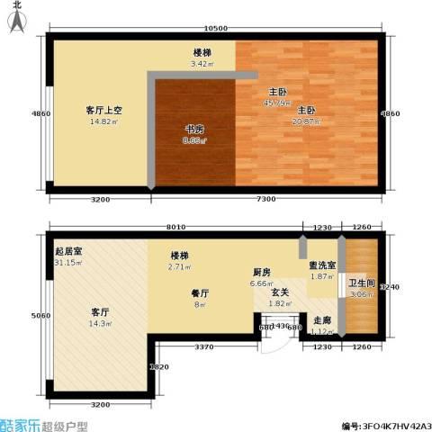昆仑唐人中心1室0厅1卫0厨80.00㎡户型图