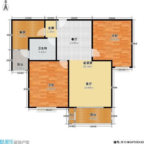 春满园公寓三期2室0厅1卫1厨96.00㎡户型图