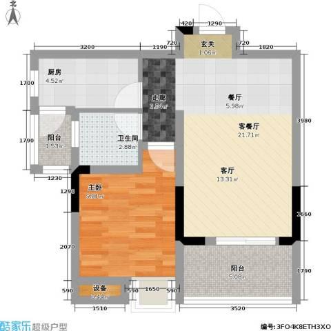 首创i HOME1室1厅1卫1厨68.00㎡户型图