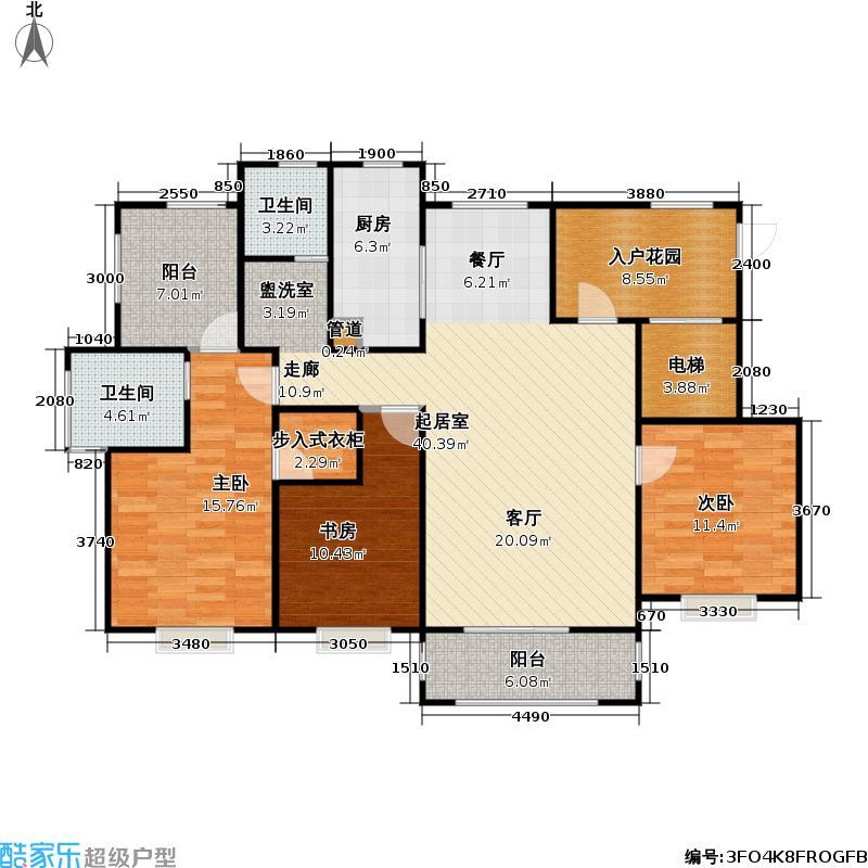 华钜御庭130.00㎡三房二厅二卫-135平方米-51套户型
